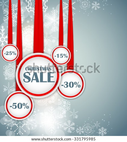 Christmas SALE Concept  Background Vector Illustration EPS10 - stock vector