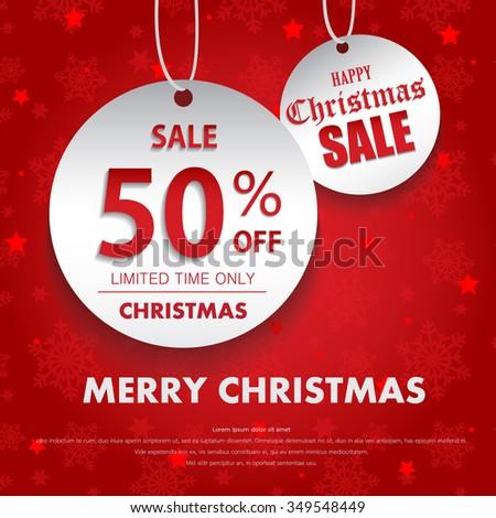Christmas sale design template - stock vector