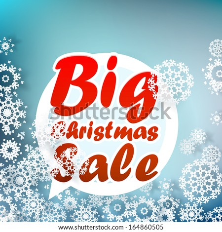 Christmas sale design template. + EPS10 vector file - stock vector