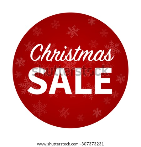 Christmas sale promotion hanging display poster / sticker