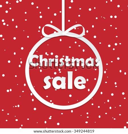 Christmas sale tag .Christmas sale promotion - stock vector