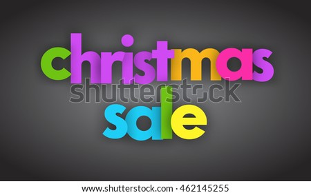 Christmas sale vector banner sign
