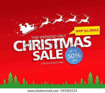 Christmas sale. Vector illustration - stock vector