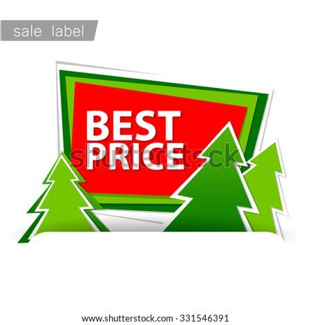 Christmas sale. Vector template. - stock vector