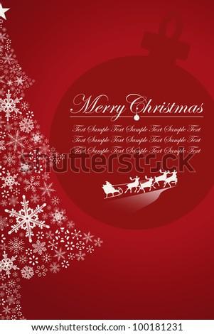 Christmas Santa Claus and tree - stock vector
