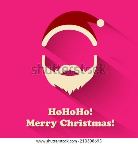 Christmas Santa Claus flat design icon - stock vector