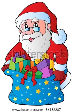 Christmas Santa Claus 3 - vector illustration.