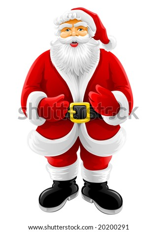 Christmas Santa Claus vector illustration isolated on white background - stock vector
