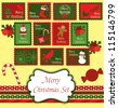 christmas scrapbook collection. vector illustration - stock vector