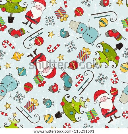 Christmas seamless background. EPS 10 vector illustration contains transparency effects. - stock vector