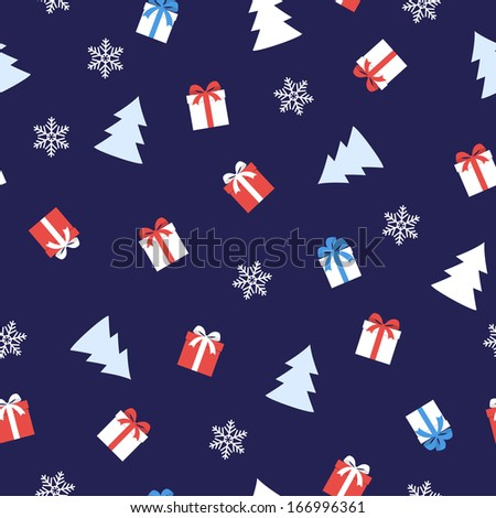 christmas seamless background/vector illustration