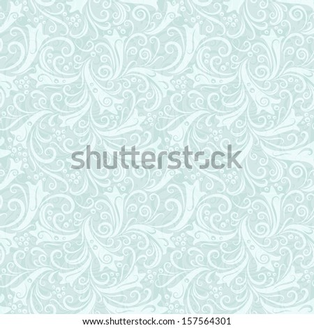 Christmas seamless ice background with translucent vintage pattern (vector EPS 10) - stock vector