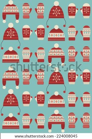 christmas seamless pattern design. vector illustration - stock vector