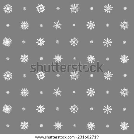 Christmas seamless pattern from multicolored snowflakes on background art - stock vector