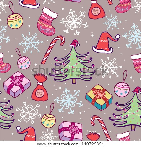 Christmas seamless pattern.Seamless pattern can be used for wallpaper, pattern fills, web page background,surface textures.