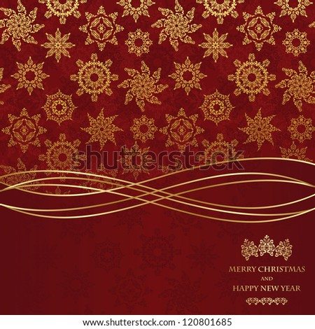 Christmas seamless wallpaper. Can be used as greeting card or invitation - stock vector