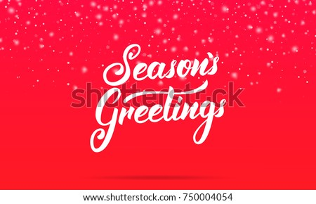 Christmas seasons greetings lettering design winter stock vector christmas seasons greetings lettering design winter holiday card with seasons greetings calligraphy and shiny m4hsunfo