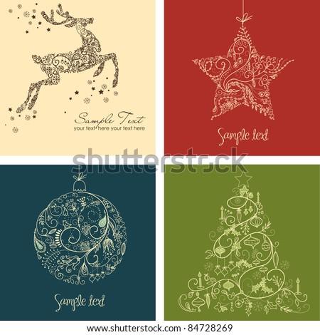 Christmas Set - stock vector