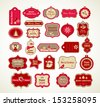 Christmas set - labels, tags and decorative graphic elements - stock