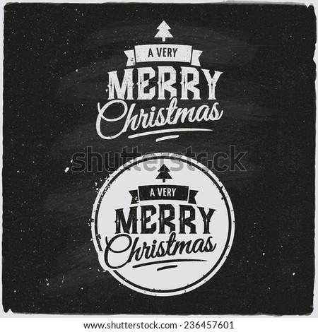 Christmas Set Of Typographic Design - stock vector