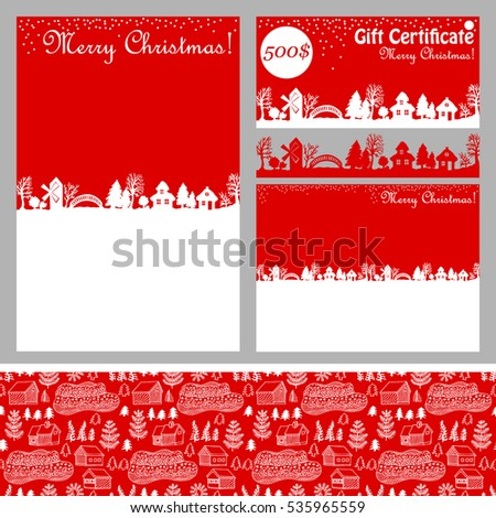Winter Forest Christmas Seamless Vector Pattern Stock Vector ...