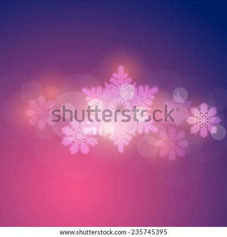 Christmas Shine Concept Blurred Snowflakes, Banners, Cards Template - stock vector