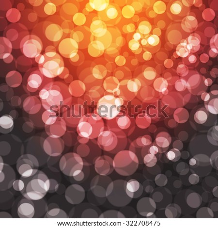 Christmas shiny background with lights - Vector - stock vector