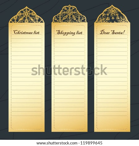 christmas, shopping list - stock vector