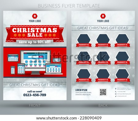 Vector Business Flyer Design Template Mobile Stock Vector