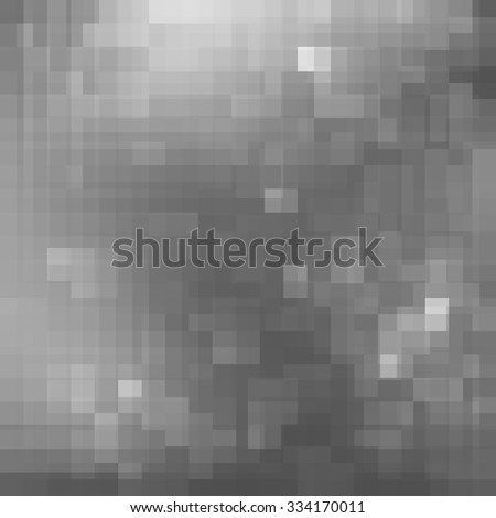 Christmas silver background. Geometric greyscale mosaic pixelated design. Vector illustration EPS10 - stock vector