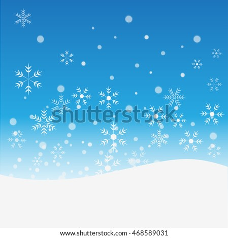 Christmas, snow abstract background vector.