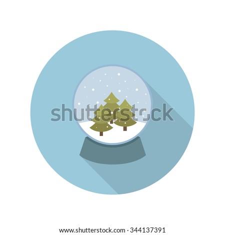 Christmas snow globe icon. vector illustration - stock vector