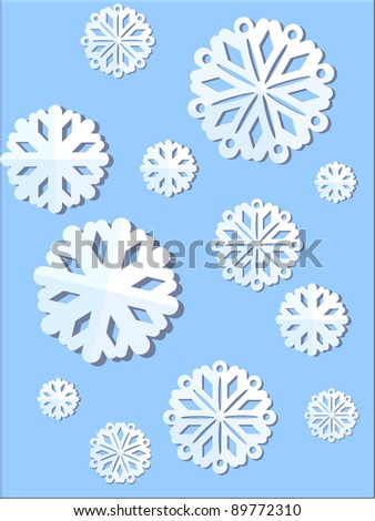 Christmas snowflake - stock vector
