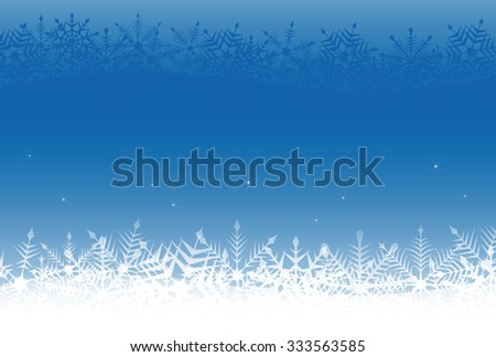 Christmas snowflake background illustration in blue background