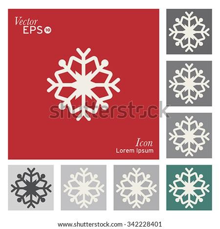Christmas snowflake icon - vector, illustration. - stock vector