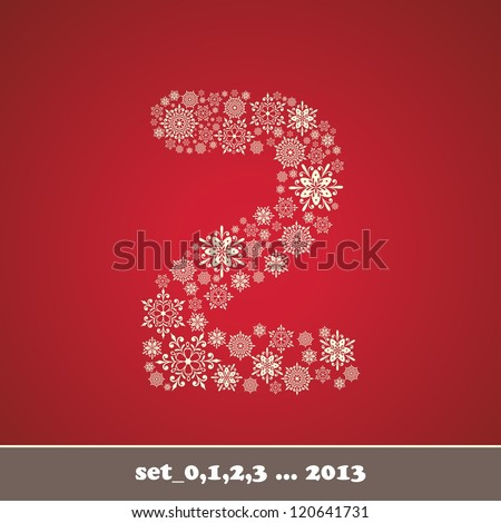 Christmas snowflake number two - stock vector