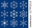 Christmas snowflakes - stock vector