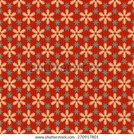 Christmas snowflakes background for Your design. Retro background. Abstract background texture for design poster, cards, invitations, book, web design, wallpaper. Seamless pattern. Vector - stock vector