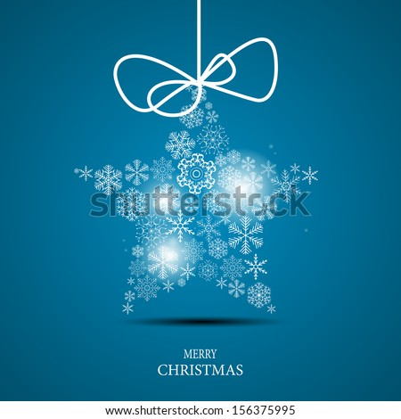 Christmas snowflakes background vector illustration - stock vector
