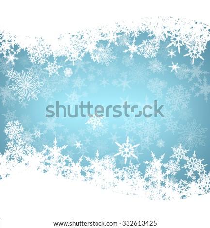 Christmas Snowflakes Card - stock vector