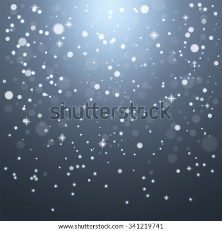 Christmas snowflakes on a gray background. Vector illustration. - stock vector