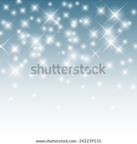 Christmas snowy blurred background vector - stock vector