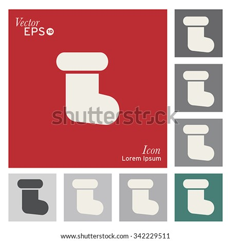 Christmas socks icon - vector, illustration. - stock vector