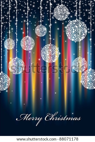 christmas sparkle background with seasonal message - stock vector