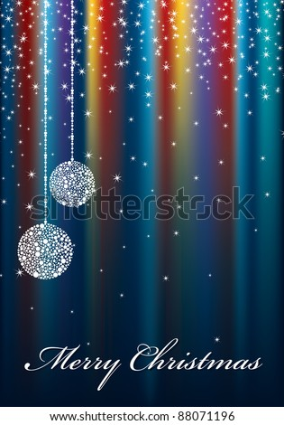 christmas sparkle decoration with seasonal message - stock vector