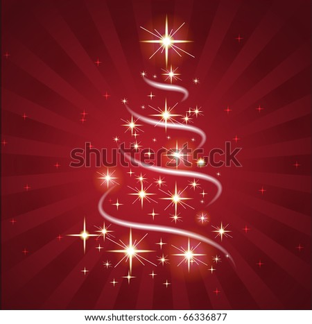 Christmas Sparkling Greeting Card - stock vector