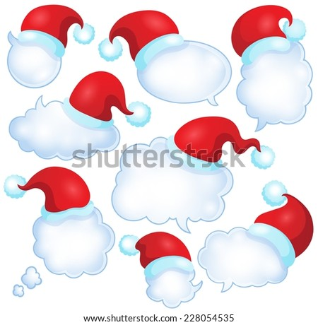 Christmas speech bubbles set 1 - eps10 vector illustration. - stock vector