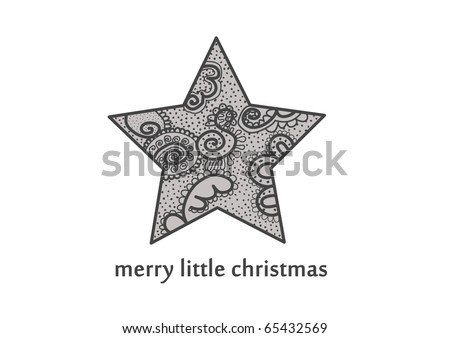 Christmas star - stock vector