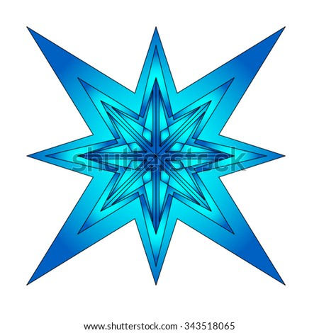 Christmas star, design background. Vector illustration.