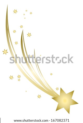 Christmas Star isolated on white paper background  - stock vector